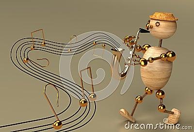 Musician wood man