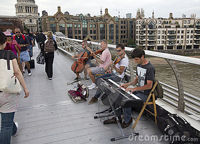 Musicians in London Editorial Photo