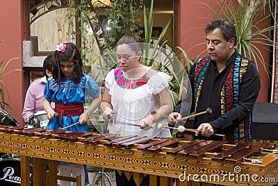 Musicians playing marimba Editorial Stock Photo