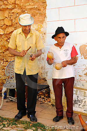 Musicians in Trinidad, cuba. OCT 2008 Editorial Stock Image