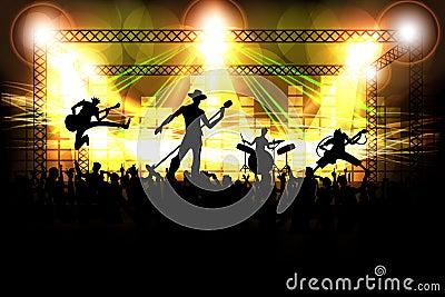 Musikband som offentligt utför