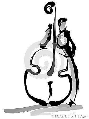 Musiker, der Instrument spielt