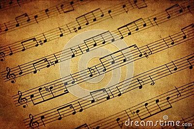 Musique de feuille de cru