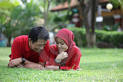 Muslim asian couple