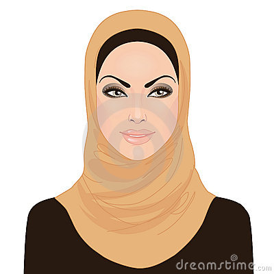 Muslim beautiful girl in hijab