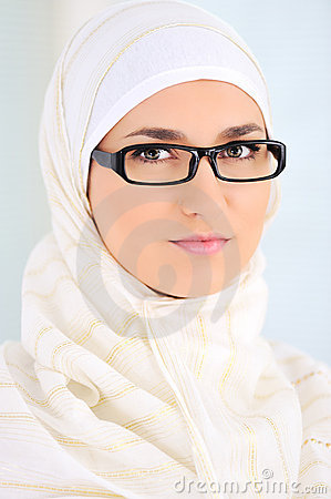 Muslim beautiful woman indoor