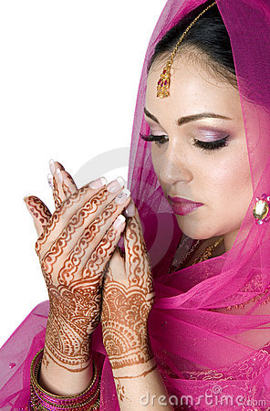 Muslim Bride in Prayer