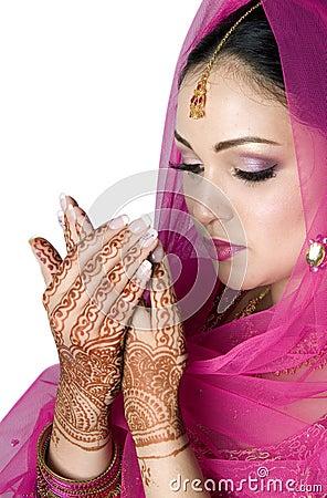 Muslim Bride in Prayer