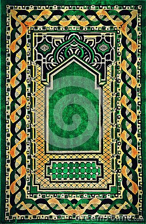 Free  Muslim Carpet Textile Design Stock Photos - 54521933