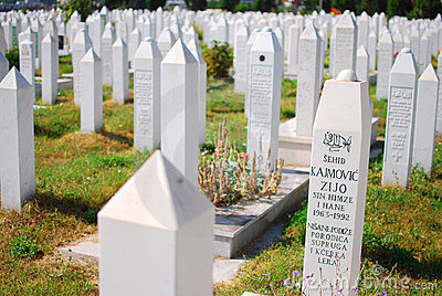 Muslim cemetery in Sarajevo, Bosnia Editorial Image