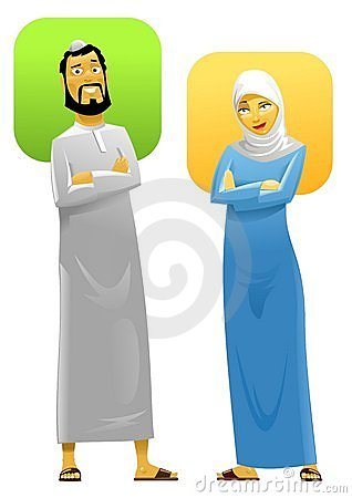 Free Muslim Couple 2 Royalty Free Stock Photography - 10680447