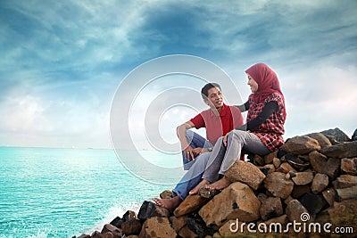 Muslim couple outdoor