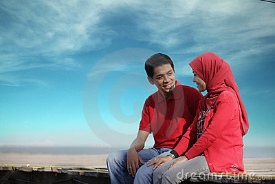 Muslim couple outdoor