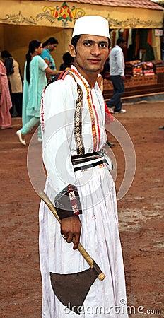 Muslim dancer boy Editorial Photo