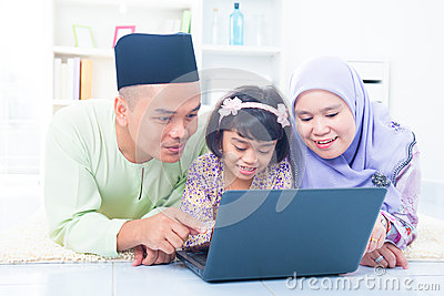 Muslim family living lifestyle