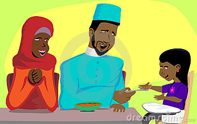 Muslim Family Snack Time