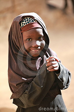 Muslim girl in Africa Editorial Photo