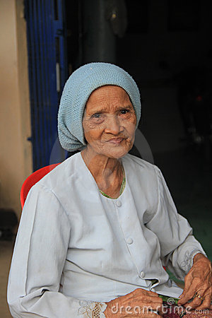 Muslim Lady of Cambodia Editorial Stock Image