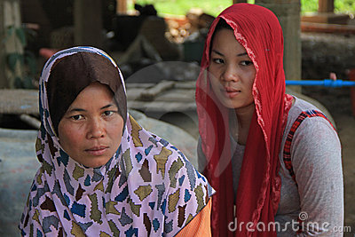 Muslim Lady of Cambodia Editorial Image