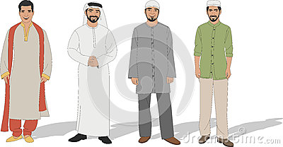 Muslim men Vector Illustration