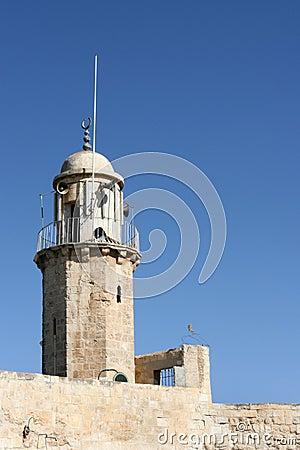 Muslim Minaret, Jerusalem, Israel