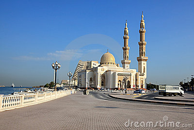 Muslim mosque in Sharjah.