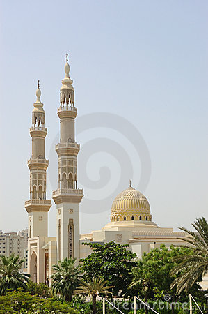 Muslim mosque, Sharjah, United Arab Emirates