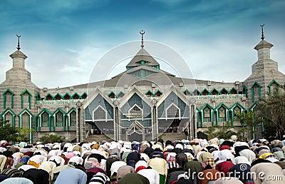 Muslim pray Editorial Photography
