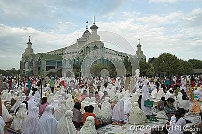 Muslim pray Editorial Stock Image