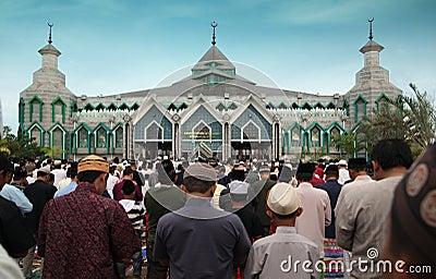 Muslim prayers Editorial Photography