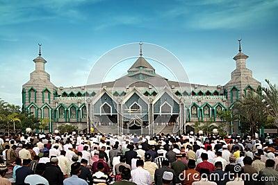 Muslim prayers Editorial Photo