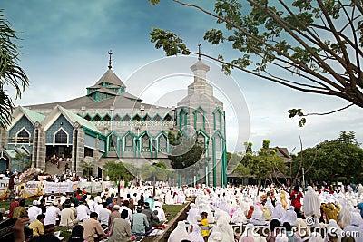 Muslim prayers Editorial Image