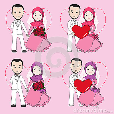 Free Muslim Wedding Couple Royalty Free Stock Photography - 65455777