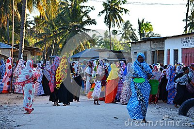 Muslim wedding in the village, Zanzibar Editorial Stock Photo