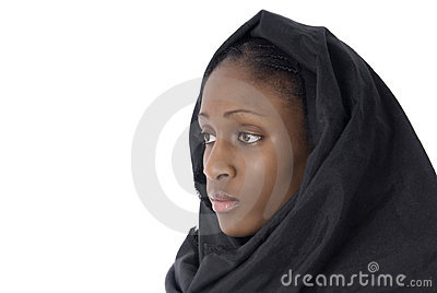 Muslim woman with black veil