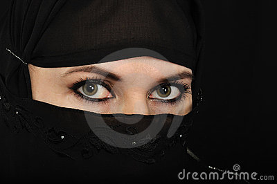 Muslim woman eyes Editorial Photo