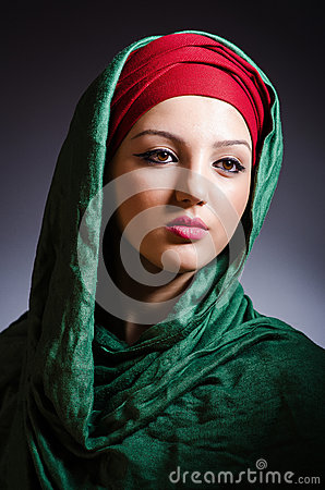 Muslim woman with headscarf