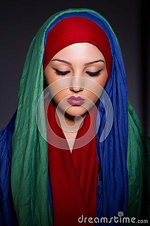 Muslim woman with headscarf