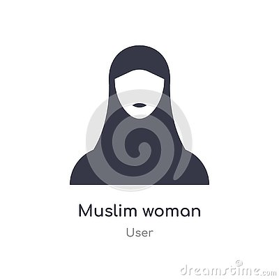 muslim woman icon. isolated muslim woman icon vector illustration from user collection. editable sing symbol can be use for web Vector Illustration
