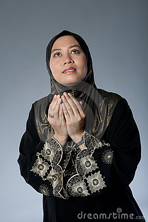 Muslim woman in traditional Islamic clothing