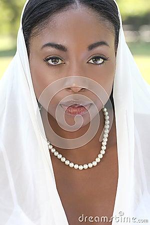 Muslim woman: veil on face