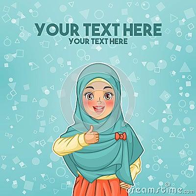 Free Muslim Woman Wearing Hijab Giving A Thumbs Up Stock Photo - 112631900