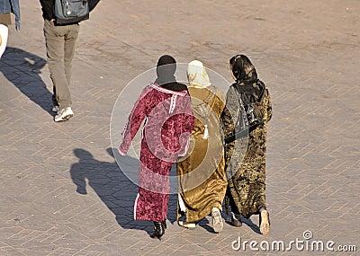 Muslim women in Marrakech