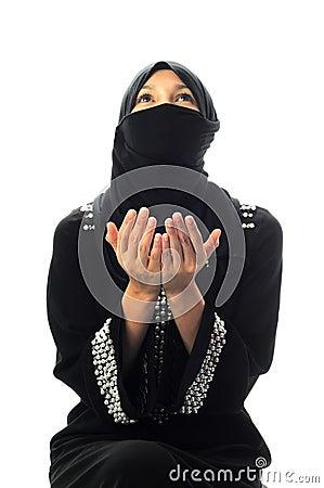 A muslim women pray