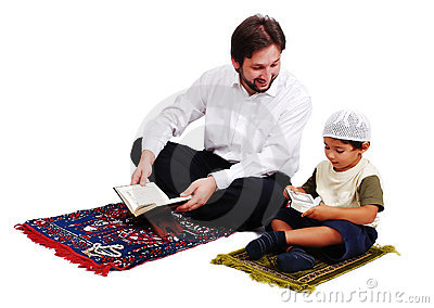 Muslim Worship Is  Activites In Ramadan Holy Month Royalty Free Stock Image - Image: 10479066