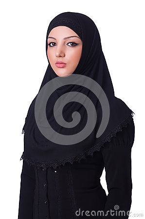 Muslim young woman wearing hijab