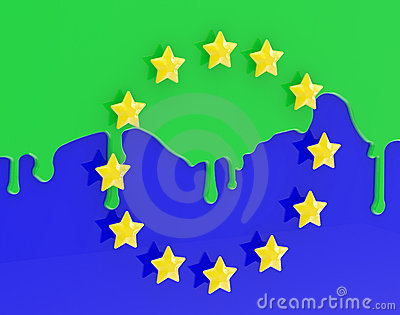 The Muslimization of Europe as coloured EU flag