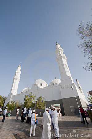 Muslims at the compound of Masjid Quba Editorial Image