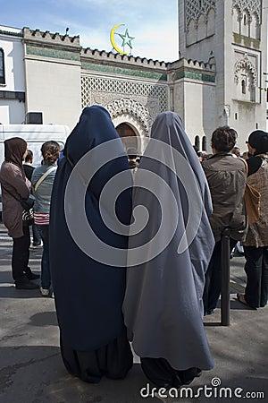 Muslims Demonstrating Against Islamophobie Editorial Photography