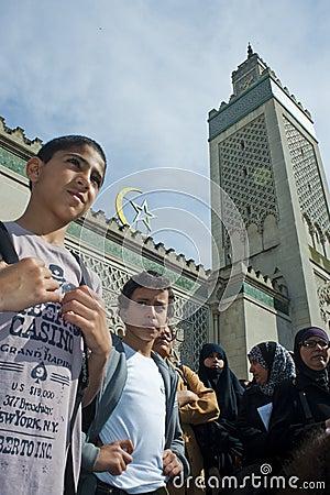 Muslims Demonstrating Against Islamophobie Editorial Stock Photo